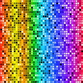 Bright rainbow colored rectangle mosaic seamless pattern — Stock Vector