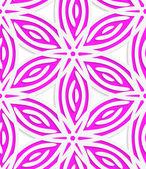 White and pink geometrical flowers seamless pattern — Stockvektor