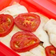 Hake en papillote — Stock Photo
