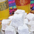 Tea and turkish delight - Stock Photo