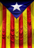 The Estelada, the Catalan independentist flag — Stock Photo