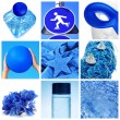Blue collage - Foto Stock