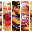 Tapas,spanish cuisine collage — Stock Photo