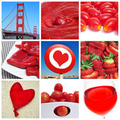 Red collage — Stock Photo