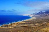 аэрофотоснимок cofete пляж в фуэртевентура, канарские острова, сп — Стоковое фото