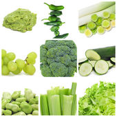 Green food collage — Stock Photo