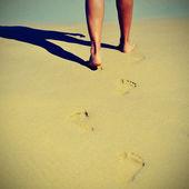 Estate in spiaggia con un effetto retrò — Foto Stock