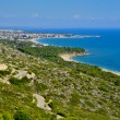 Stock Photo: Torn Beach and coast of Hospitalet del Infant, Spain