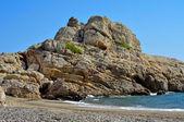 Rozdarty plaży w hospitalet del niemowląt, hiszpania — Zdjęcie stockowe
