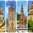 Towers in Andalusia, Spain, collage — Stock Photo