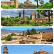 Landmarks in Andalusia, Spain, collage - Stock Photo