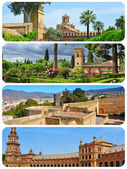 Landmarks in Andalusia, Spain, collage — Stock Photo
