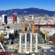 Faked tilt shift of of placa de Espanya in Barcelona, Spain — Stock Photo