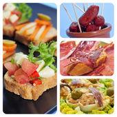 Colagem de tapas espanholas — Foto Stock