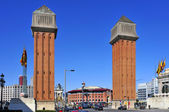 Plaza de españa en barcelona, españa — Foto de Stock