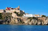 Dalt vila, starym mieście miasto ibiza, ibiza, majorka wyspa — Zdjęcie stockowe