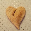 Heart-shaped bread — Stock Photo