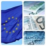 European economy collage — Stock Photo
