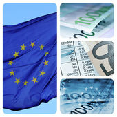 European economy collage — Stock Photo