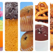 Sweet food collage - Stock Photo