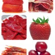 Red food collage — Stock Photo #13996070