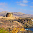 Torre del Toston castle in El Cotillo, Fuerteventura, Canary Isl - Stock Photo