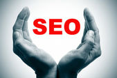 SEO, search engine optimization — Foto Stock