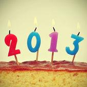 2013, nový rok — Stock fotografie