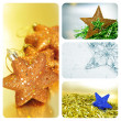 Christmas stars collage — Stock fotografie