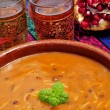 Bowl with harira, the traditional Berber soup of Morocco — Stock Photo #14494847