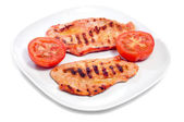 Barbecued spiced chicken meat — Stock Photo