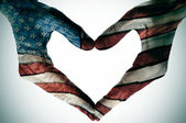 America in the heart — 图库照片