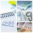 European crisis collage — Stock Photo