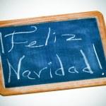Feliz navidad, merry christmas in spanish — Stock Photo #14609279