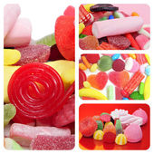 Candies collage — Stock Photo