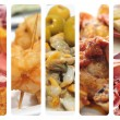 Royalty-Free Stock Photo: Spanish tapas collage