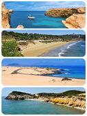 Spaanse stranden collage — Stockfoto