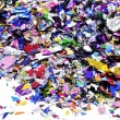 Metallic confetti — Stock Photo