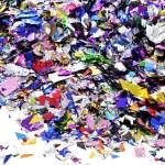 Metallic confetti — Stock Photo