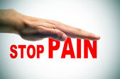 Stop pain — Stock Photo