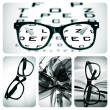 Eyeglasses collage — Stock Photo