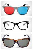 Eyeglasses collage — Stock Photo