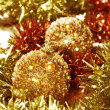 Christmas balls and tinsel — Stock Photo #17663549