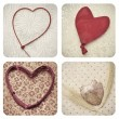 Hearts collage — Stock Photo