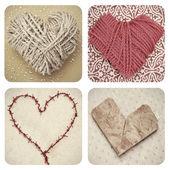 Collage de corazones — Foto de Stock