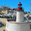 Sa Penya and Dalt Vila districts in Ibiza Town, Balearic Islands — Stock Photo