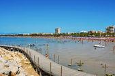 Llevant-strand in salou, spanien — Stockfoto