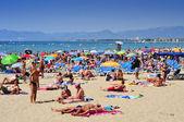 Plaży llevant w salou, hiszpania — Zdjęcie stockowe