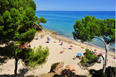 Cala dels Vienesos beach, in Miami Platja, Spain — Stock Photo