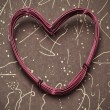 Royalty-Free Stock Photo: Heart-shaped wire roll